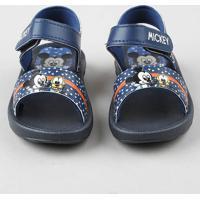 Sandália Papete Infantil Grendene Mickey E Pluto Azul Marinho