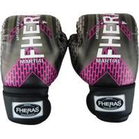 Luva Boxe Muay Thai Top - 14 Oz Iron Rosa