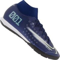 Chuteira Futsal Nike Mercurial Superfly 7 Academy Mds Ic - Adulto - Azul Escuro