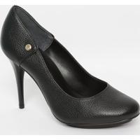 Sapato Em Couro - Preto- Salto: 10Cmjorge Bischoff