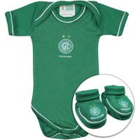 f5bd26d1db Kit De Uniforme De Futebol Do Guarani Para Bebê  Body + Pantufa - Infantil -