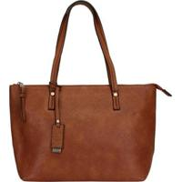 Bolsa Mormaii Shopping Bag Básica Feminina - Feminino-Cafe