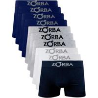 Kit 10 Cuecas Boxer Adulto Com Algodão Zorba