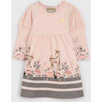 Vestido Milon Infantil Floral Rosa/Cinza