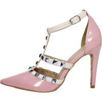 Scarpin Week Shoes Tachas Rosa Bebê