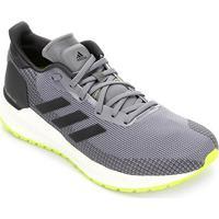 Tênis Adidas Solar Blaze Masculino - Masculino-Cinza+Preto