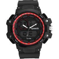 Relógio Speedo 81101G0Eknp3 Preto/Vermelho
