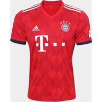 Camisa Bayern De Munique Home 2018 S/N° - Torcedor Adidas Masculina - Masculino