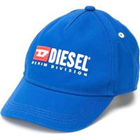 Diesel Kids Boné Com Logo Bordado - Azul