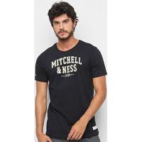 Camisa Mitchell & Ness Logo 1904 - Masculino-Preto