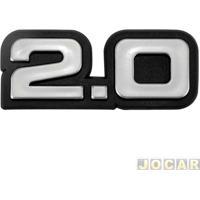 """Letreiro - Alternativo - Monza 1986 Até 1991 - """"2.0"""" - Cola - Cada (Unidade)"""