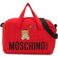 Moschino Kids Bolsa Maternidade Com Logo - Vermelho