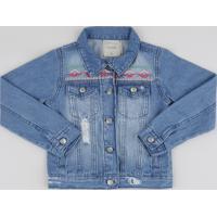 Jaqueta Jeans Infantil Com Bordado Azul Médio