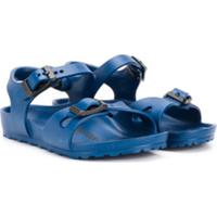Birkenstock Kids Buckle-Strap Sandals - Azul