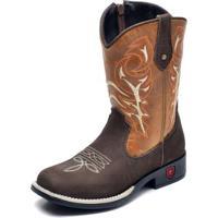 Bota Infantil Country Texana Top Franca Shoes Masculina - Masculino-Café