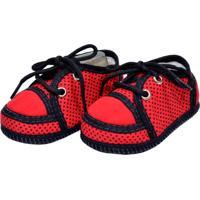 Tênis Bolinhas Sapatinhos Baby Vermelha