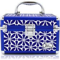 Maleta Multiuso Jacki Design De Poliéster + Alumínio - Feminino-Azul