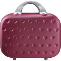 Frasqueira Love- Vermelho Escuro & Prateada- 26X31,5Jacki Design