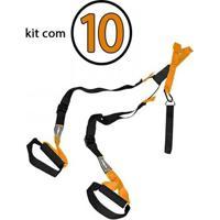 Kit Com 10 Fitas De Suspensão Com Regulagem Tipo Trx Ls3659 - Unissex