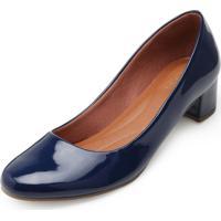 Sapato Sense Rio Salto Baixo Za19-2001 Azul Marinho