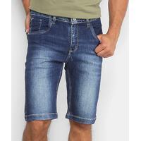 Bermuda Jeans Reta Rockblue Masculina - Masculino-Jeans