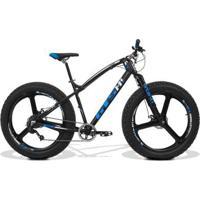 Bicicleta Gts Fat Aro 26 Com Freio A Disco 9 Marchas Câmbio Shimano, Quadro De Alumínio E Roda De M - Unissex