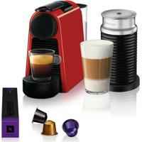 Máquina De Café Nespresso Essenza Mini D30 Vermelha Com Aeroccino 3 1