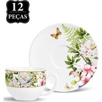 Conjunto 12Pçs Xicaras De Chá 197Ml Revoada Branco