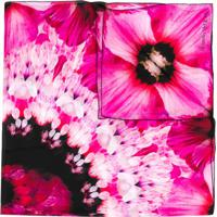 Alexander Mcqueen Echarpe Com Estampa Floral - Rosa