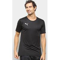 Camisa Puma Liga Active Masculina - Masculino-Preto+Branco