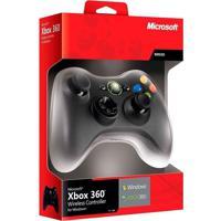 Controle Microsoft Sem Fio Com Receptor Para Pc E Xbox 360 Preto