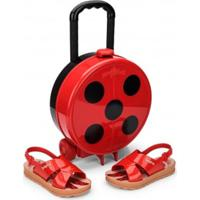 Sandália Infantil Ladybug Trip + Maleta