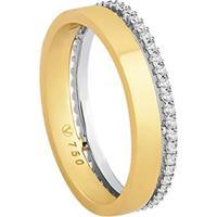 Aliança Noiva Ouro Amarelo Ouro Branco E Diamantes