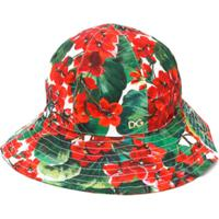 Dolce & Gabbana Kids Floral Sun Hat - Verde