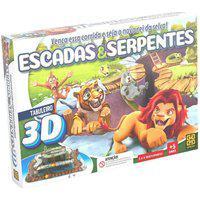 Jogo De Tabuleiro Escadas E Serpentes 3D - Grow