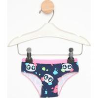 Calcinha Boneca Panda - Azul Marinho & Rosapuket