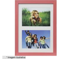 Painel Multifotos Insta- Vermelho & Branco- 28X21X1,Kapos