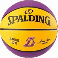 Bola Basquete Spalding Nba Lakers - Unissex-Amarelo+Roxo