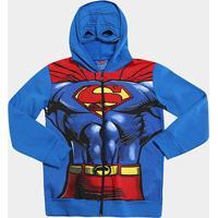 Jaqueta Infantil Marlan Moletom Superman Masculino - Masculino