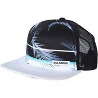 Netshoes  Boné Billabong Snap Spinner Trucker Black White - Unissex df092cd0485