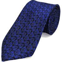 Gravata Concetto Seda Semi Slim Azul Royal - Azul - Masculino - Dafiti