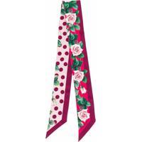 Dolce & Gabbana Echarpe Com Estampa De Rosas Tropicais - Roxo