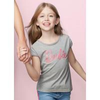 Blusa Cinza Claro Barbie® Malwee Kids