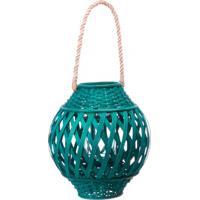 Lanterna Bamboo 30Cm Azul