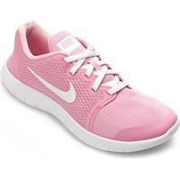 Tênis Infantil Nike Flex Contact Feminino - Feminino-Rosa+Branco