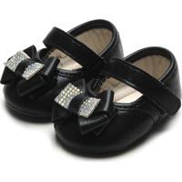 Sapato Pimpolho Menina Laço Preta