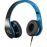 Fone De Ouvido C/ Microfone Preto/Azul- Multilaser - Unissex