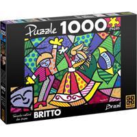 Quebra-Cabeça - Romero Britto - Brazil - 1000 Peças - Grow - Unissex-Incolor