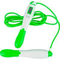 Corda De Pular Com Contador Digital Profissional Ginástica Reforçada Fitness Academia Verde