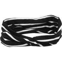 Headband Turbante Bijoulux Listrada Preto E Branco